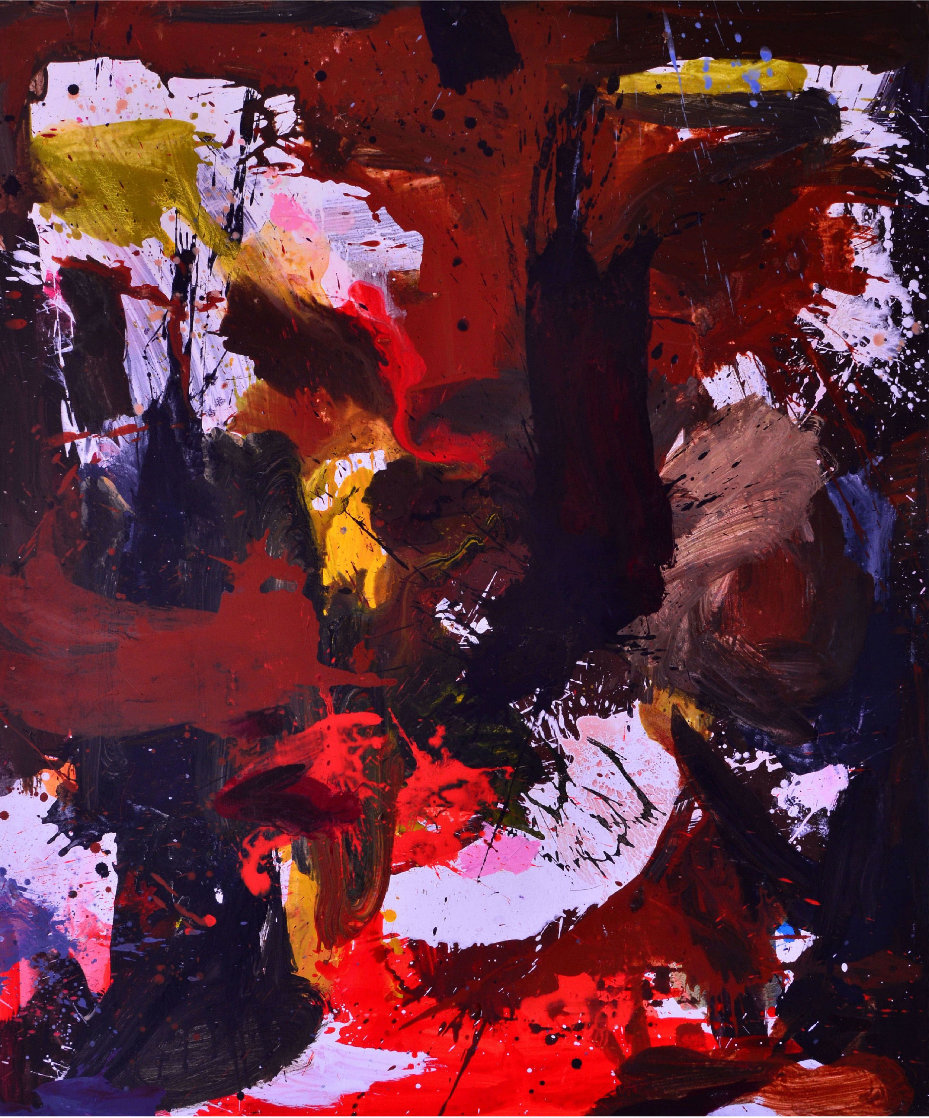 Across the World 2017 74x62 Huge Original Painting by Costel Iarca