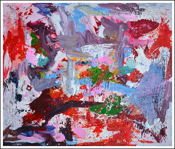 Around the World 2017 74x62 Original Painting - Costel Iarca