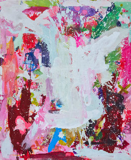 Color Data 2017 74x62 Original Painting by Costel Iarca