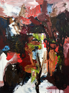 Clumsy Moments 2017 38x50 Original Painting - Costel Iarca