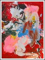 Under Red Umbrella 2017 50x38 Super Huge Original Painting by Costel Iarca - 1