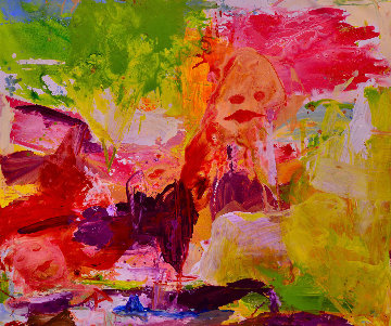 Delight in the Beauty 2017 62x74 Huge Original Painting - Costel Iarca