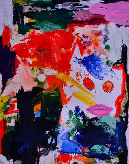 Right Angle 2017 62x50 Super Huge Original Painting - Costel Iarca