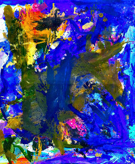 His Journey 2017 74x62 Original Painting by Costel Iarca