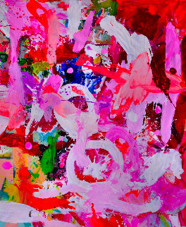 True Love 2017 74x62 Huge Original Painting - Costel Iarca
