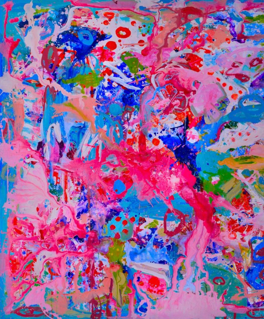 Values And Changes Number 2  2017 74x72 Huge Original Painting by Costel Iarca