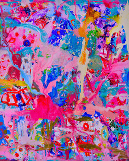 Values And Changes Number I 2017 74x62 Original Painting by Costel Iarca