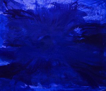 Blue Ocean 2017  62x74 Huge Original Painting - Costel Iarca