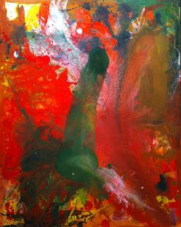Contemporary Adaptation 2017 62x50  Huge Original Painting - Costel Iarca