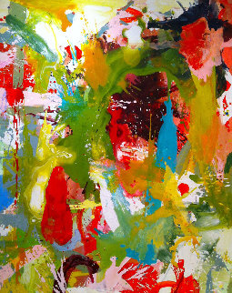 Music Echoes in Our Minds 2017 62x50 Original Painting by Costel Iarca