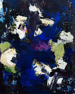 Poet's Message 2017 74x62 Huge Original Painting - Costel Iarca