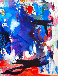 Story About the Sea 2017 74x62 Original Painting - Costel Iarca