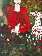 Lady in the Garden 2013 88x58 Huge Original Painting by Costel Iarca - 8