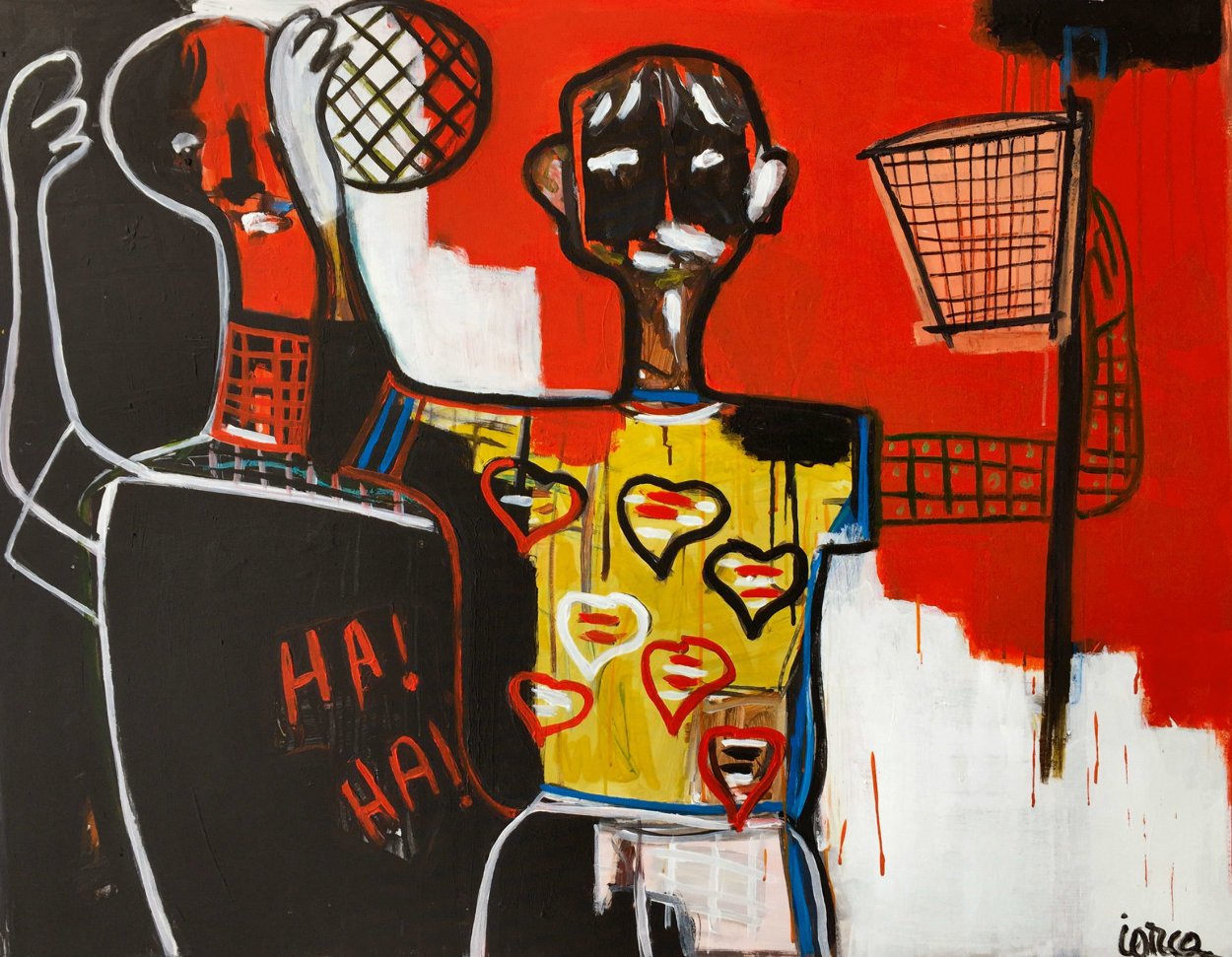 Basketball Player 2013 50x62 Super Huge Original Painting by Costel Iarca