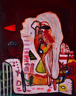Screaming For Peace 2013 62x50 Original Painting by Costel Iarca