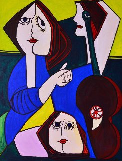 Friendship 2013 62x50 Super Huge Original Painting - Costel Iarca