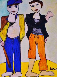 Boys 2013 62x50 Super Huge Original Painting - Costel Iarca