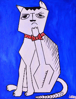 Cat 2013  62x50 Original Painting - Costel Iarca