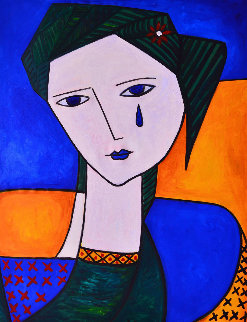 Tear For Love 2013 62x50 Original Painting by Costel Iarca