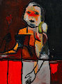 Mama Says 2014 50x38 Original Painting - Costel Iarca