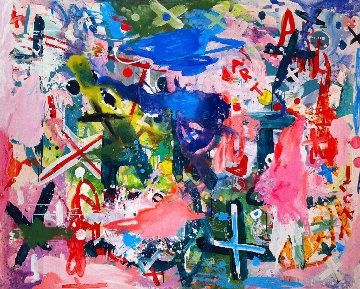 Universe is Taking Shape 2017 64x74 Original Painting - Costel Iarca