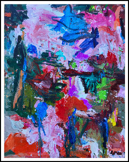 Time And Stage  2017 62x50 Original Painting - Costel Iarca