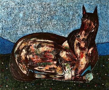 Horse Nr 1 3-D 2017 74x62 Original Painting - Costel Iarca