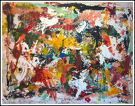 Fall in Universe 2017 106x126 Mural Huge Original Painting by Costel Iarca - 1