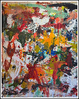 Fall in Universe 2017 106x126 Mural Super Huge Original Painting by Costel Iarca - 2