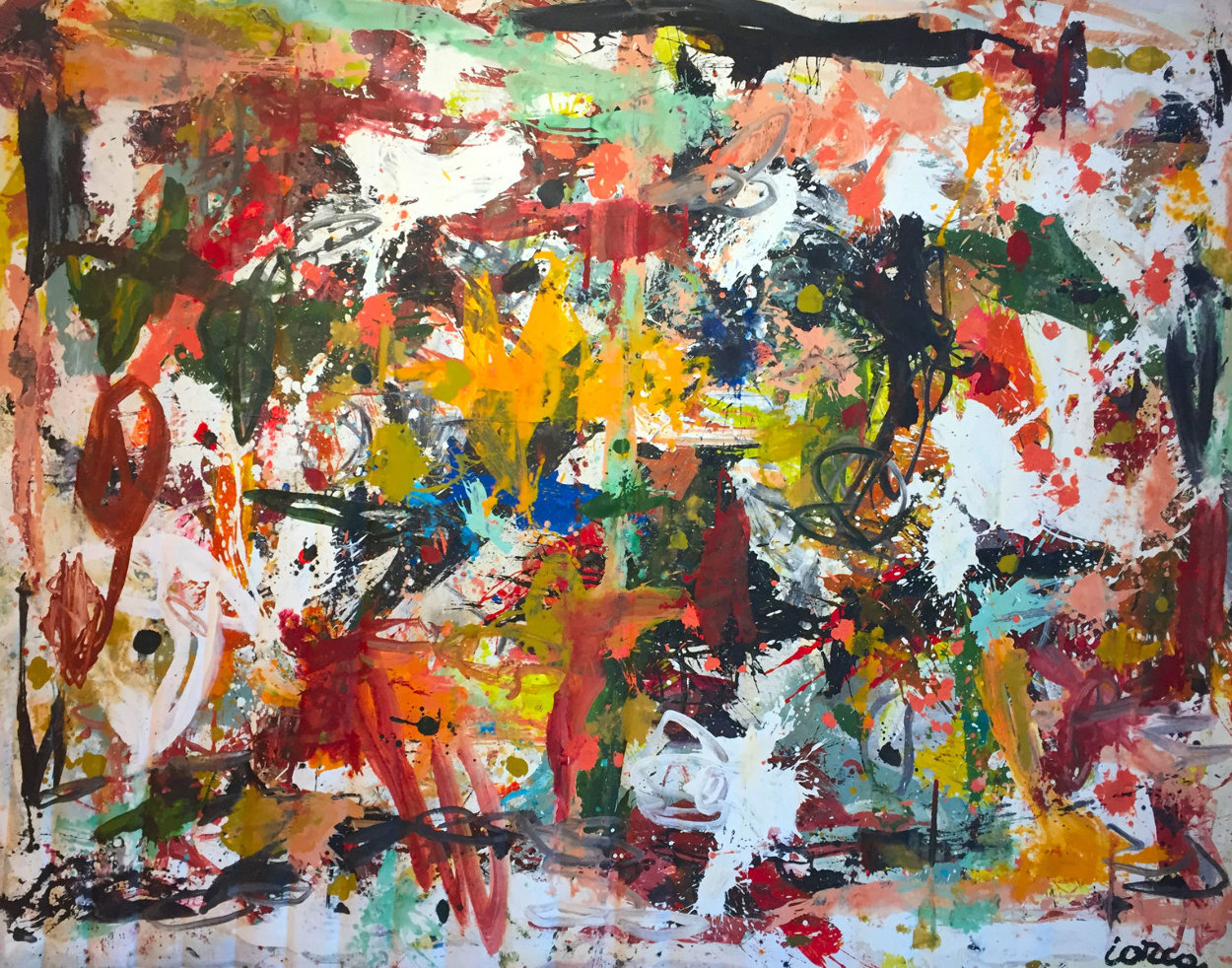 Fall in Universe 2017 106x126 Mural Super Huge Original Painting by Costel Iarca