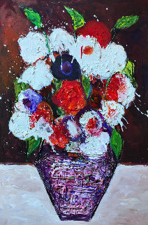 Still Life Number 2 2018 38x26 Original Painting by Costel Iarca