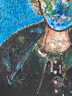 Man in Blue 3-D 2018 62x50 Original Painting by Costel Iarca - 3
