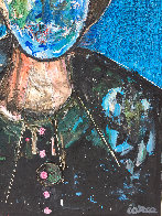 Man in Blue 3-D 2018 62x50 Original Painting by Costel Iarca - 4