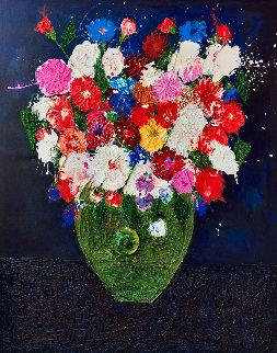 Still Life Number 4  3-D 2017   62x52  Huge Original Painting - Costel Iarca