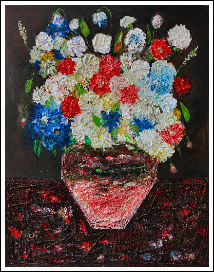 Still Life Nr 5 3-D 2017 62x50 Original Painting by Costel Iarca