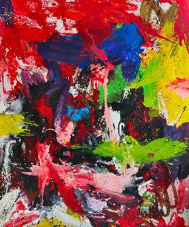 Restrictive Convenants 2019 72x62 Huge Original Painting - Costel Iarca