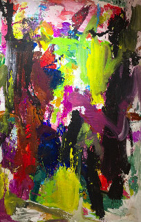 Good Story 2019 101x81 Mural Original Painting by Costel Iarca