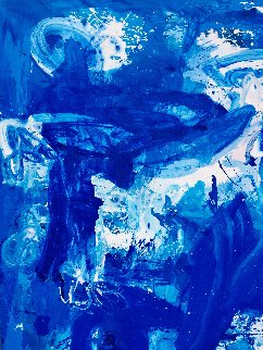 Blue Simphony in Universe 2018 81x98 Original Painting by Costel Iarca
