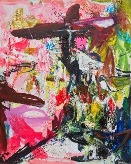 In Paradise 3-D 2018 62x50 Super Huge Original Painting - Costel Iarca