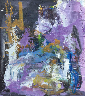 Life in Purple 2019 67x57 Original Painting by Costel Iarca