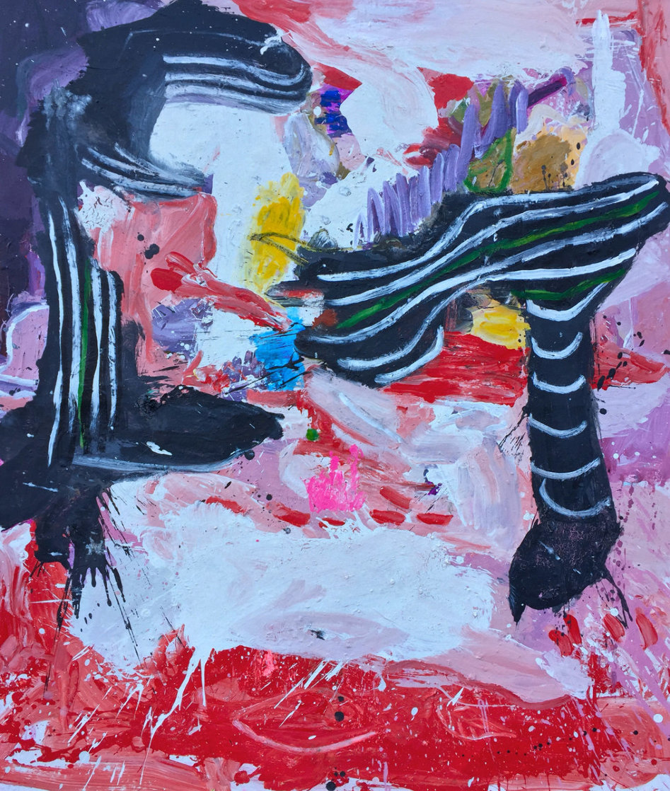End of the Story 2019 72x62 Original Painting by Costel Iarca