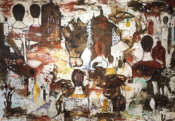 My Guernica 2019 100x136 Mural Original Painting - Costel Iarca