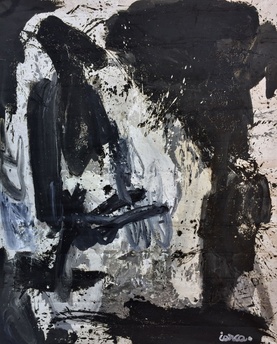 Push of a Buton 2019 84x64 Huge Original Painting by Costel Iarca