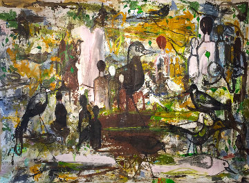 Beautiful Stage 2019 100x136 Mural Huge Original Painting - Costel Iarca