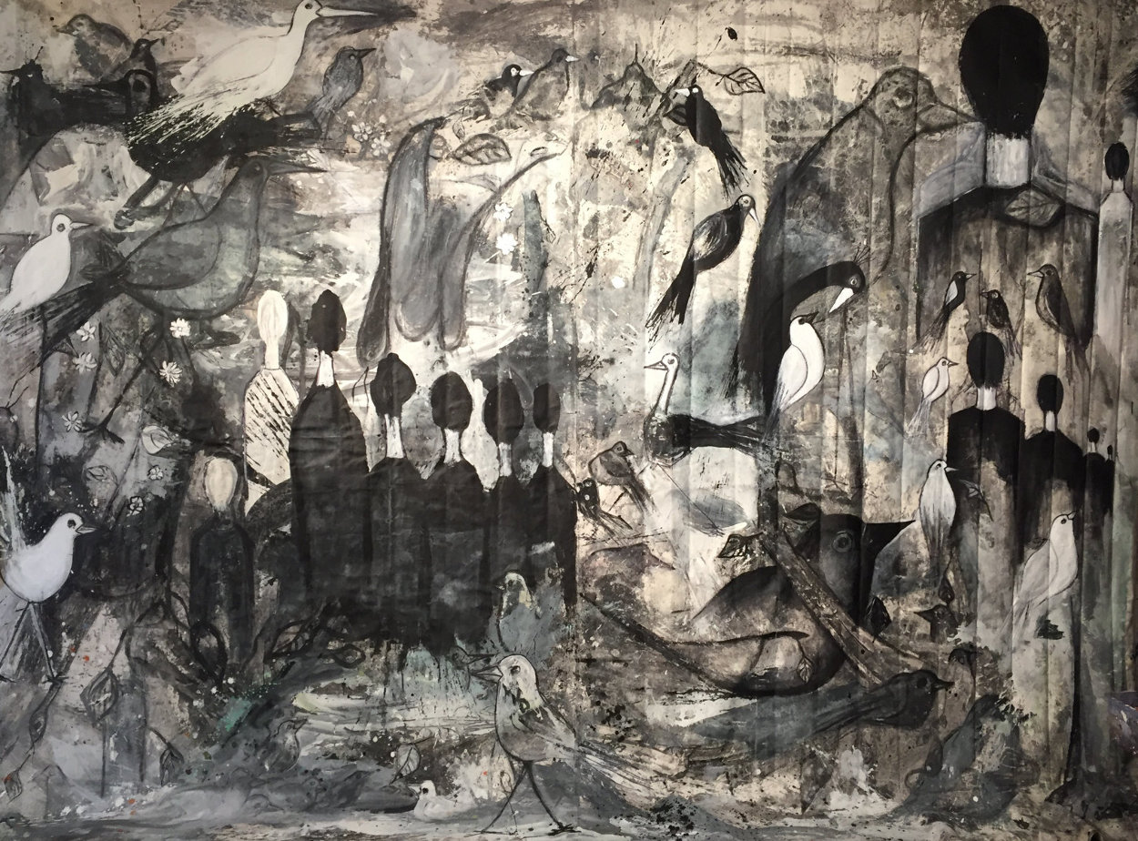 Performance 2019 100x136 Super Huge Mural  Original Painting by Costel Iarca