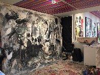 Performance 2019 100x136 Super Huge Mural  Original Painting by Costel Iarca - 2