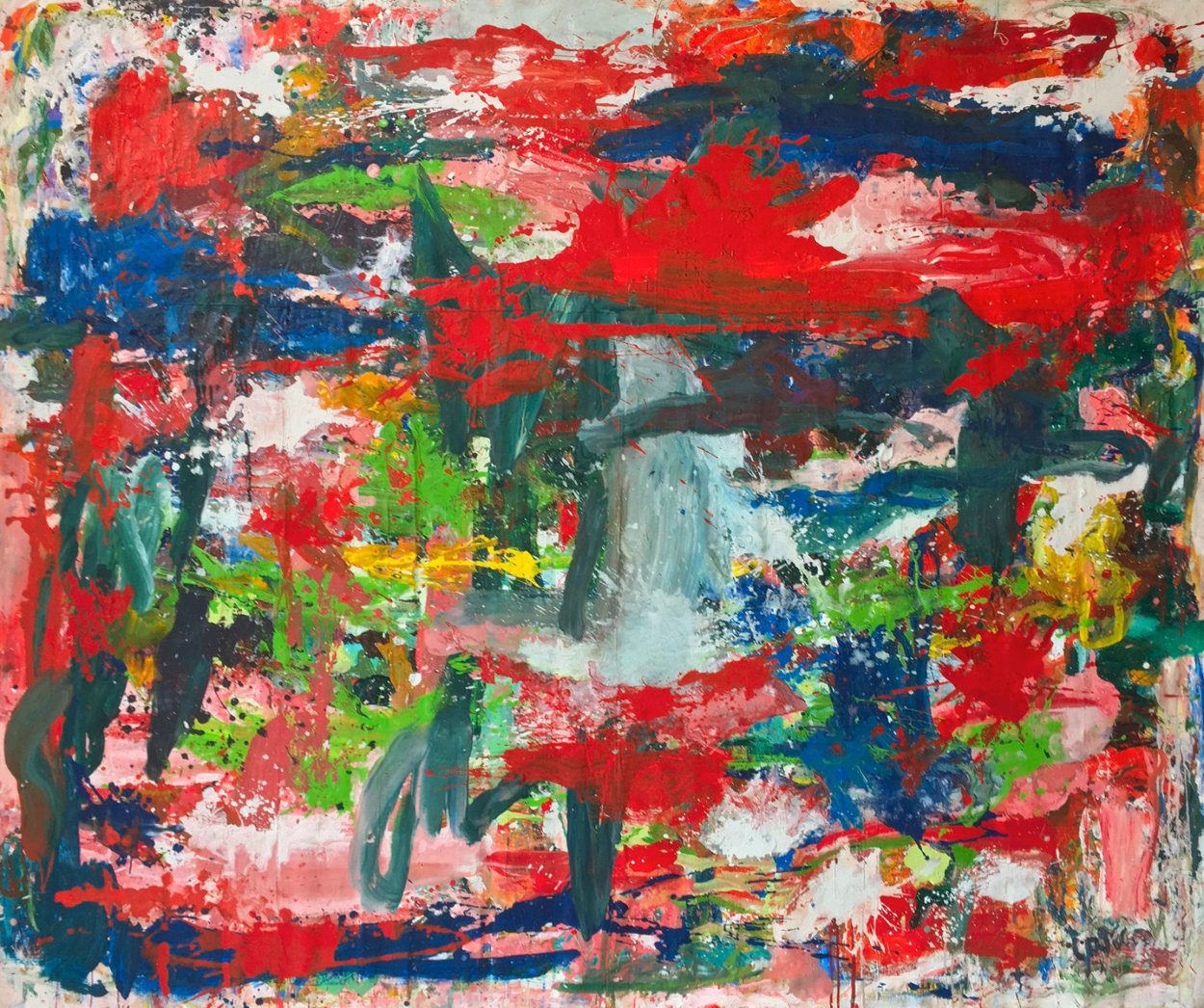 Major Dimensions 2019 90x79 Original Painting by Costel Iarca