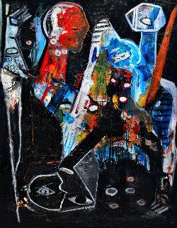 Silence Is... 2015 62x50 Original Painting - Costel Iarca