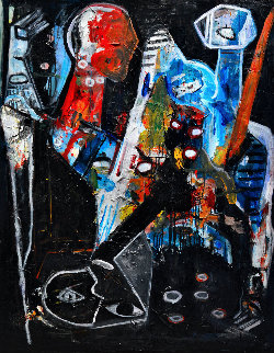Silence Is... 2015 62x50 Huge Original Painting - Costel Iarca