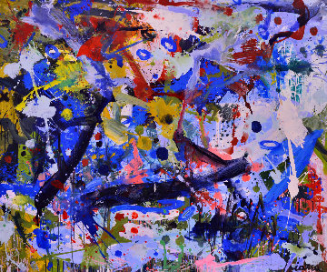 Spring in the Country 2017 62x74 Huge Original Painting - Costel Iarca